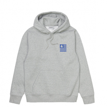 CARHARTT W.I.P : HOODED WAVING STATE FLAG SWEATSHIRT