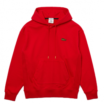 LACOSTE : LOOSE FIT EMBROIDERED SWEATSHIRT