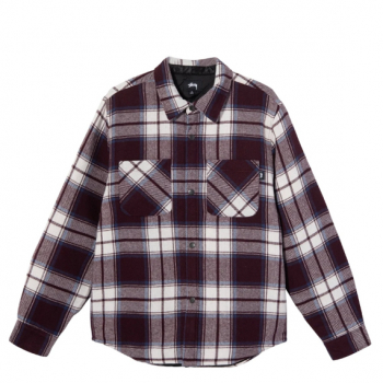 STÜSSY : MAX PLAID QUILTED SHIRT