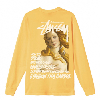 STUSSY : SPRING WEEDS PIGMENT DYED LS TEE